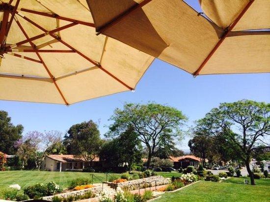 The Inn at Rancho Santa Fe: View from the dining patio