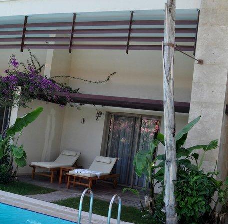 Paloma Pasha Resort : notre terrasse