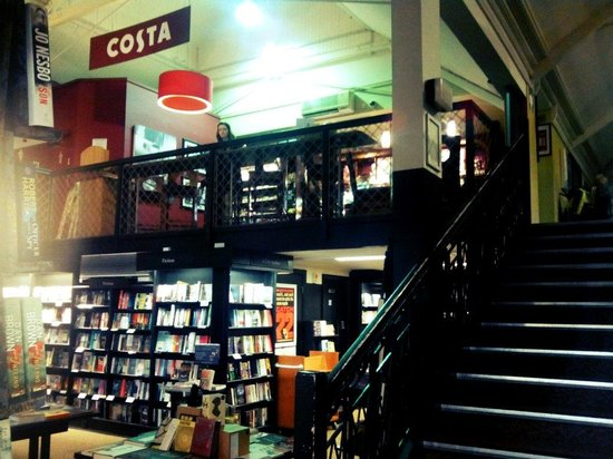 Stairs To Costa In Waterstones A Lovely Atmosphere And Different To