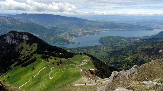 La Tournette: Vue sur le lac d'Annecy