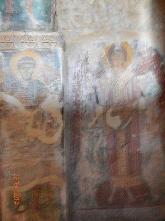 Castle of Geraki: Medieval fresco