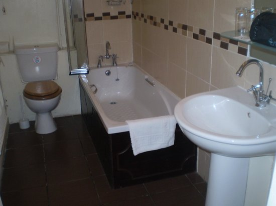 The Lion Hotel & Restaurant: bathroom clean but needs a little tlc in certain areas