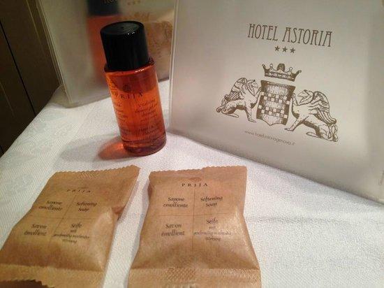 Clarion Collection Hotel Astoria: il set di cortesiam estremamente curato e di qualità