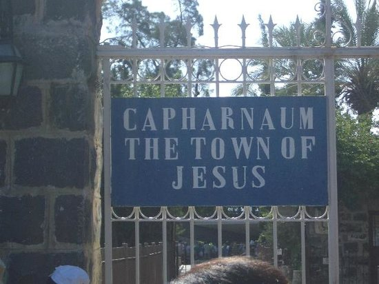 Capharnaum the Town of Jesus: Signage