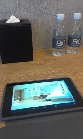 BIG Hotel Singapore: Tablet that controls the lighting within the room