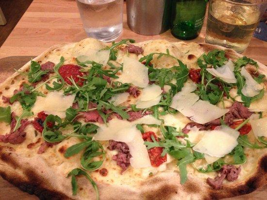 Zizzi - Hitchin: The steak stretched pizza