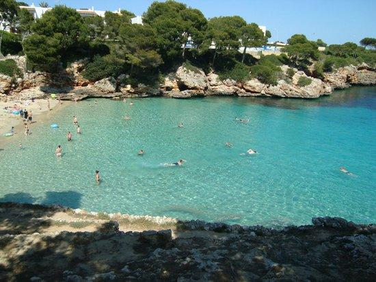 Inturotel Cala Esmeralda - Adults Only : Dit was ons uitzicht op het strand vanuit de kamer
