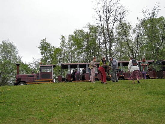 Volcano Park of Lemptegy: Little train at first stop