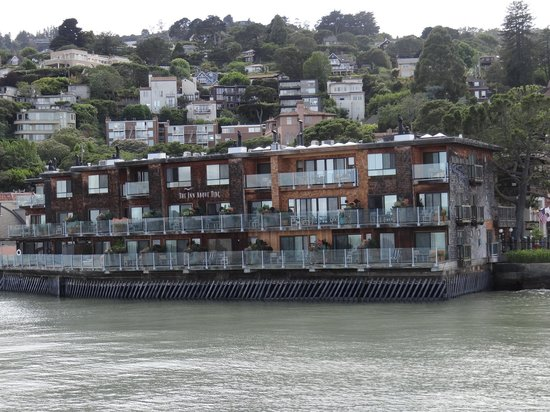 View of The Inn Above Tide from Blue & Gold ferry