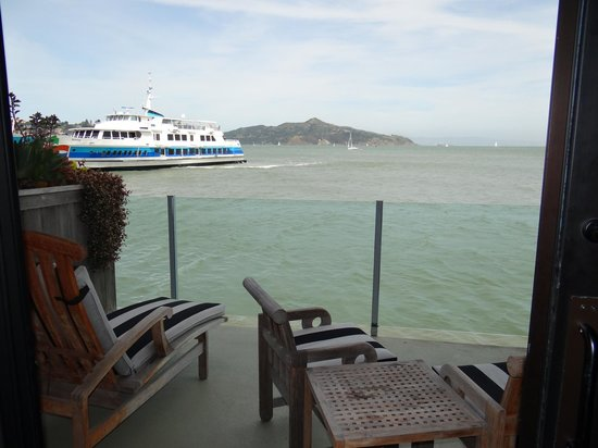 The Inn Above Tide : View of ferry from 103