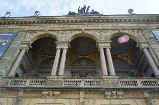Royal Danish Theater (Kongelige Teater): The façade.