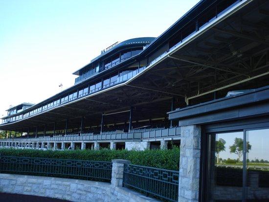 Keeneland: The grandstands from below.