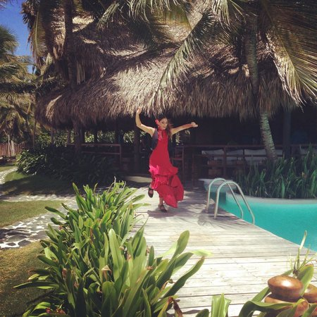 Zoetry Agua Punta Cana: Flamenco dancer while they served paella and sangria for lunch!