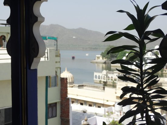 Hotel Gangaur Palace / Ashoka Art: Look from the restaurant.