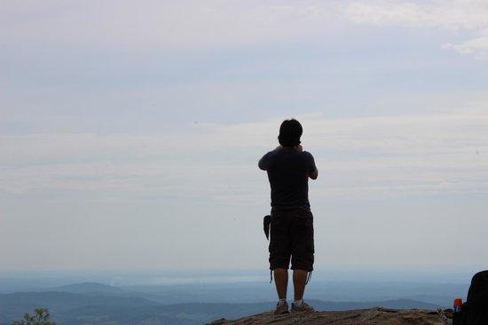 Old Rag Mountain Hike: Taking a break