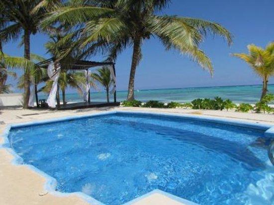 PavoReal Beach Resort Tulum: piscina idromassaggio davanti alla camera