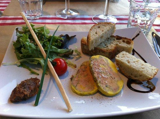 L'Adresse : foie gras de canard mi-cuit et chutney de dattes