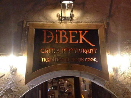 Dibek: The front of the restaurant