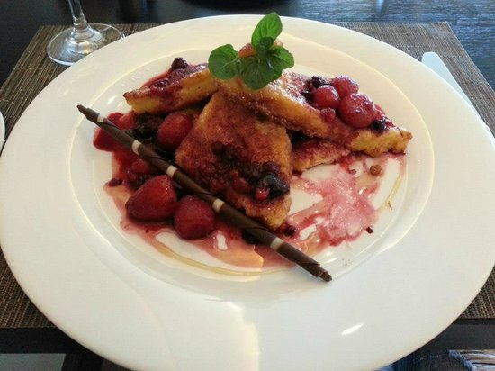 The Europe Hotel & Resort: The BEST french toast I have ever had!!!  At brunch.