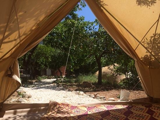 Casa de Laila | Glamping & Retreats: view from our bell tent