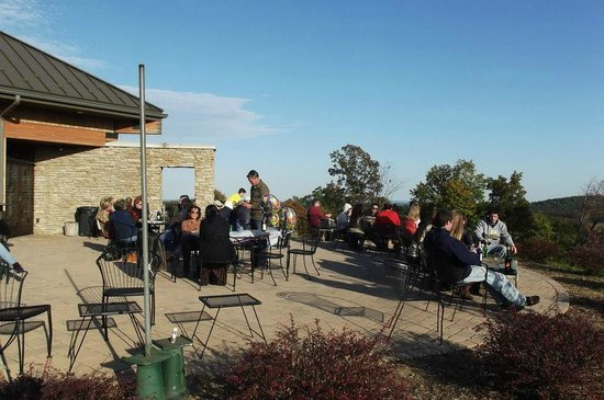 Hauser Estate Winery: Patio, at the winery.