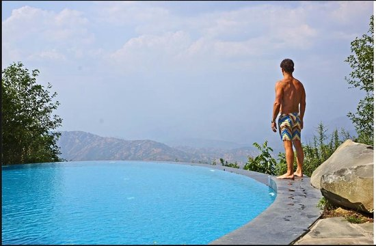 The Dwarika's Resort-Dhulikhel: The infinity pool is a highlight!