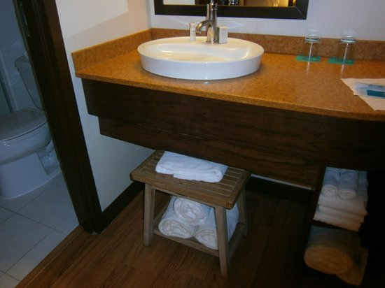 Hotel Indigo Chicago - Vernon Hills: Under sink storage for towels