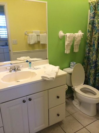 Lemon Tree Inn: Bathroom (excuse the toilet seat being up!)