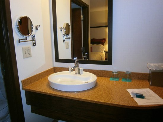 Hotel Indigo Chicago - Vernon Hills: Bathroom area outside in actual room