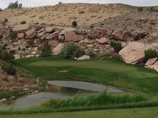 Grand Junction, CO: Water, sand, tigers, & bears. #8 green