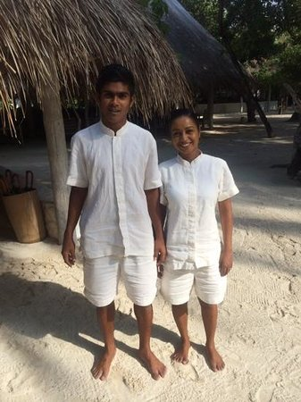 Soneva Fushi Resort: our Mrs Friday Reena and her husband Mr Friday
