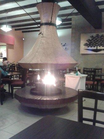 Hotel Villa Mercedes: Chimenea