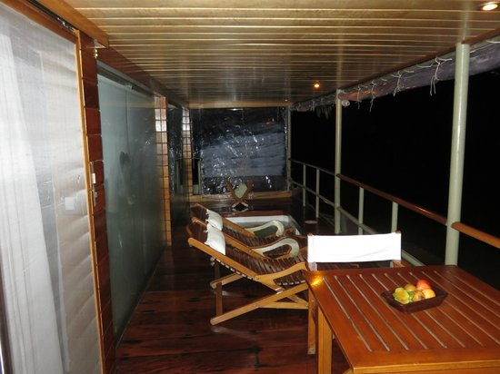 Pacaya Samiria: The private deck outside our room