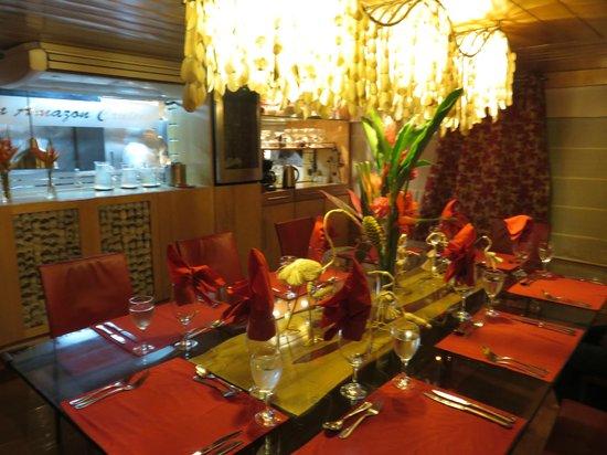 Pacaya Samiria: The dining room