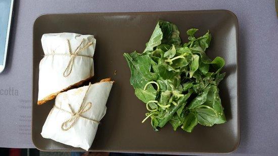 Cotta7 : Grilled aubergine & pepper sandwich