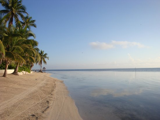 Belizean Shores Resort: Clean, white soft sand!