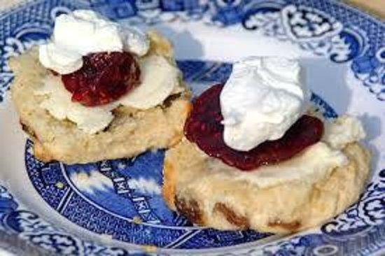 The Sugarshack Cakery: Freshly baked Buttermilk Scones with Sugarshack Jam and Cream
