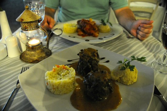 Almira Restaurant: The Winemakers Lamb and the Rabbit. Delicious!
