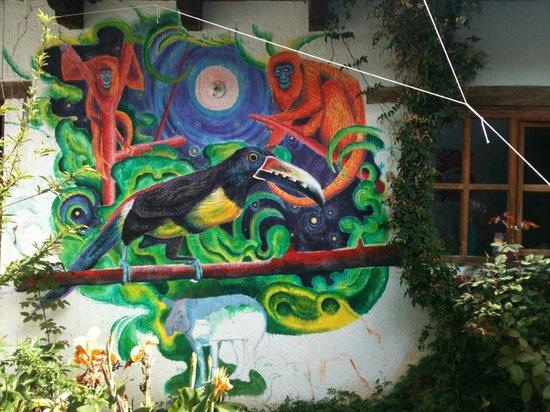 Casa Caracol Hostel: jardin
