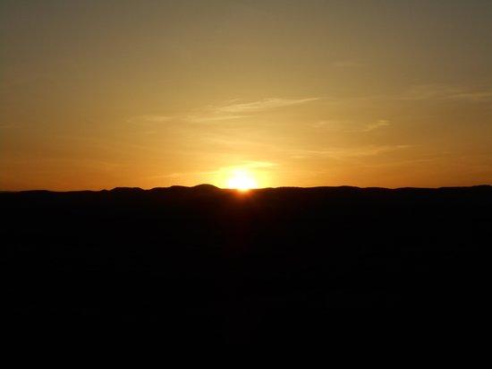 Valley of Fires Recreation Area: Sunset over the lava beds