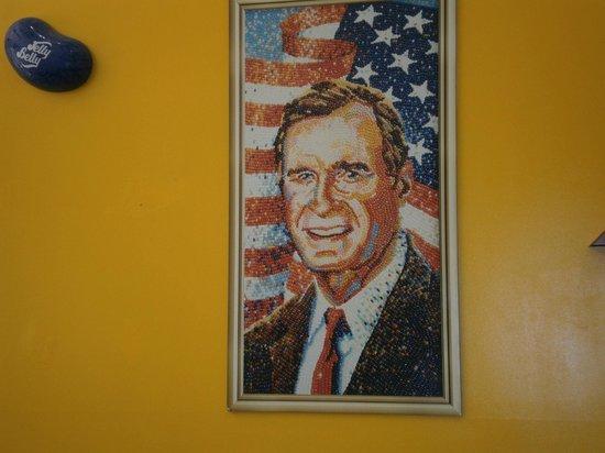 Jelly Belly Center: President Bush in Beans