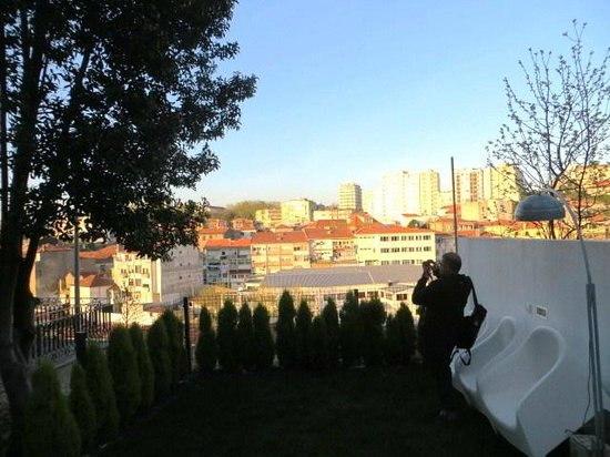 Gaia Porto Hostel: Top-level of the garden