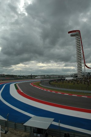 Circuit of The Americas: Hot, cloudy but dry....perfect.
