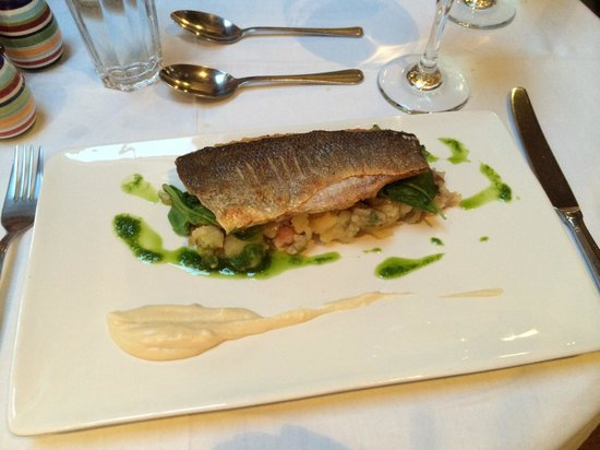 Jumble Room: Pan-fried sea bass. Delicious!