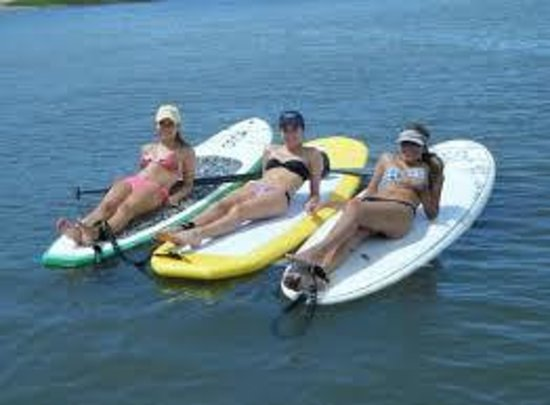 Go Paddle AZ : Tanning on the paddle boards