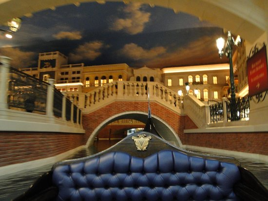 Gondola Rides at the Venetian : A atmosfera do Hotel contribui com o passeio