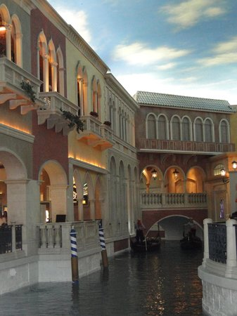 Gondola Rides at the Venetian : O hotel ajuda no clima