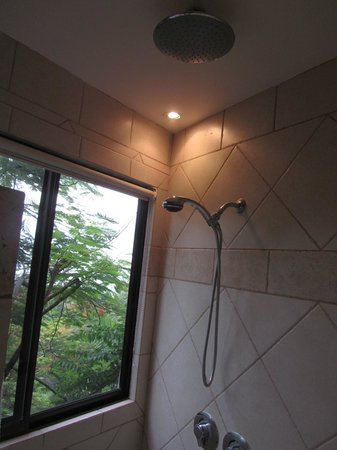 Tulemar Bungalows & Villas : Awesome shower with great view