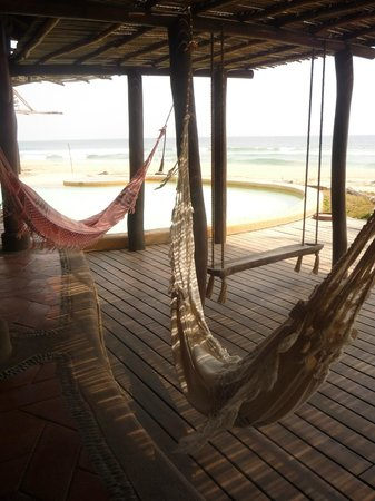 Playa Viva: Poolside hammocks
