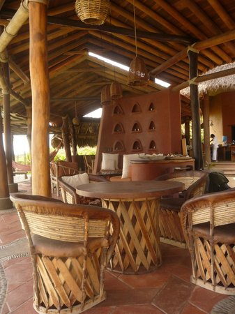 Playa Viva: part of the communal area where guests can gather and relax, or use the wifi to stay in touch
